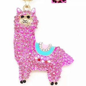 BETSEY JOHNSON~ PinK Alpaca Necklace